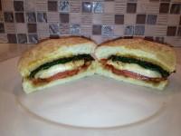 Gourmet Pork Spinach Tomato Sandwich