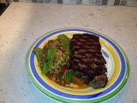 Grilled NY Strip w/ Portuguese Brown Rice